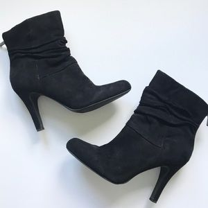 Black Suede Ankle Bootie - 8.5